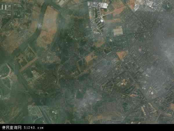 中国广东省东莞市大朗镇黎贝岭村地图(卫星地图)