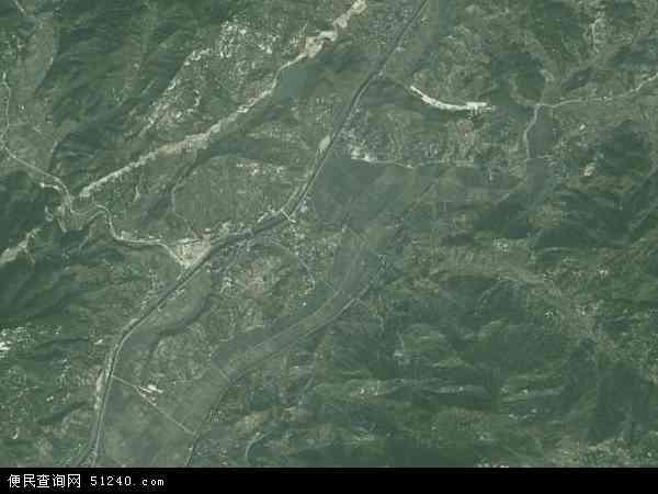 中国湖北省黄冈市麻城市木子店镇地图(卫星地图)