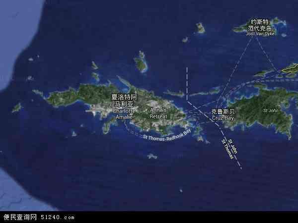美属维尔京群岛卫星地图 - 美属维尔京群岛高清卫星地图 - 美属维尔京群岛高清航拍地图 - 2016年美属维尔京群岛高清卫星地图