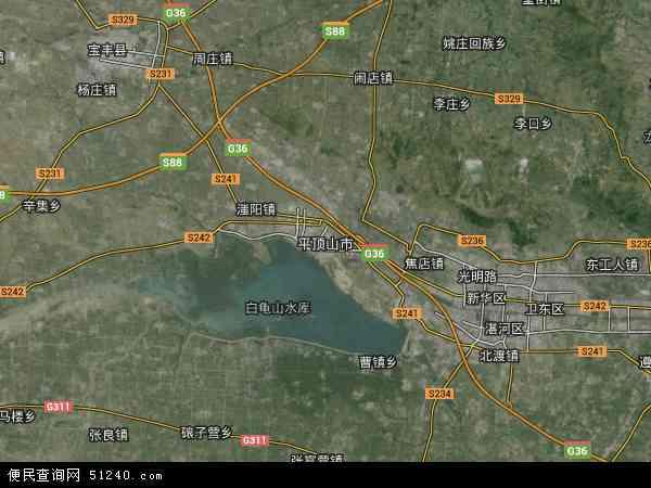 平顶山市地图 平顶山市卫星地图 平顶山市高清航拍地图