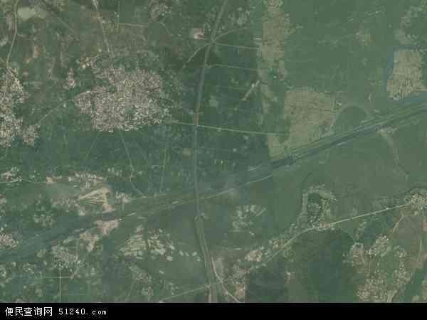 中国江西省吉安市吉水县盘谷镇地图(卫星地图)