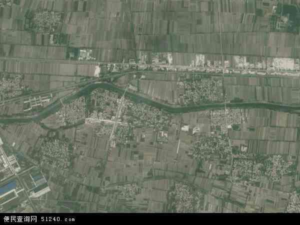 中国山东省菏泽市巨野县麒麟镇地图(卫星