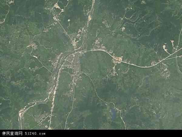七里坪镇地图 - 七里坪镇卫星地图