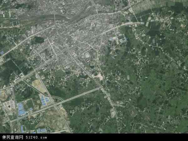 中国湖北省黄冈市浠水县清泉镇地图(卫星地图)