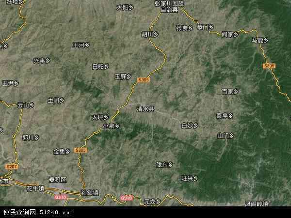 星地图 清水县2014年卫星地图 中国甘肃省天水市清水县地图