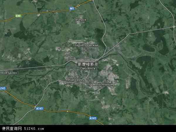 斯摩棱斯克高清航拍地图