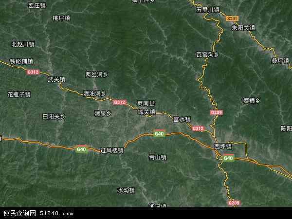 商南县地图 商南县卫星地图 商南县高清航拍地图 商南县高清卫星地图