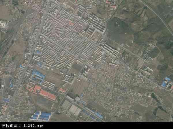 中国辽宁省辽阳市辽阳县首山镇地图(卫星地图)