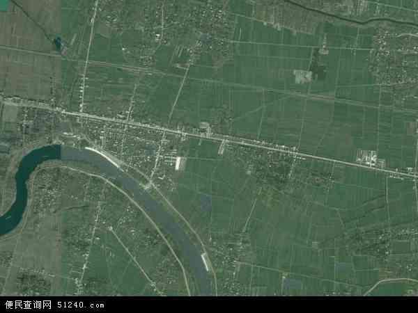 中国安徽省阜阳市太和县税镇镇地图(卫星地图)