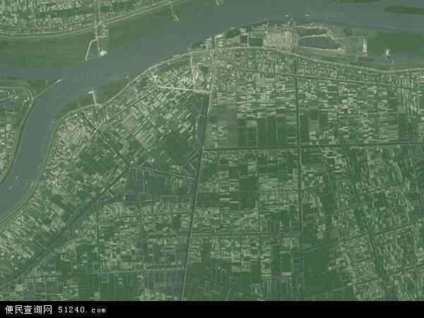 中国湖南省益阳市沅江市泗湖山镇地图(卫星地图)