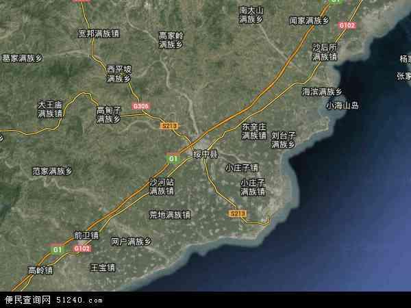 绥中县地图 - 绥中县卫星地图