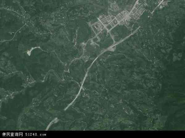 土主镇高清卫星地图