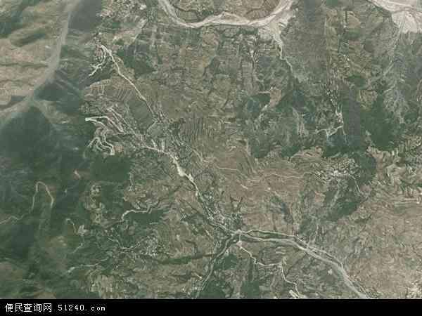 中国甘肃省陇南市礼县滩坪乡地图(卫星地图)