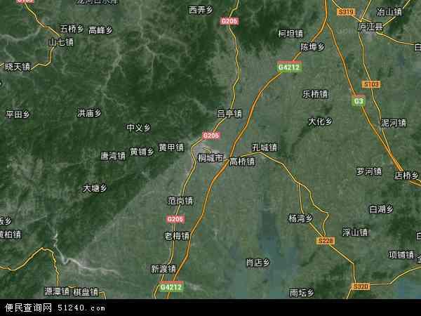 桐城市地图 - 桐城市卫星地图