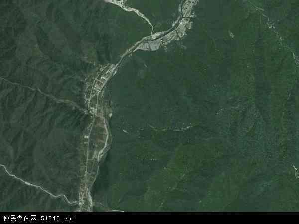 中国陕西省宝鸡市太白县装成河镇别墅(卫星地改城中村太白地图图片