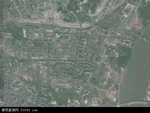 中国重庆市渝北区天宫殿地图(卫星地图)图片