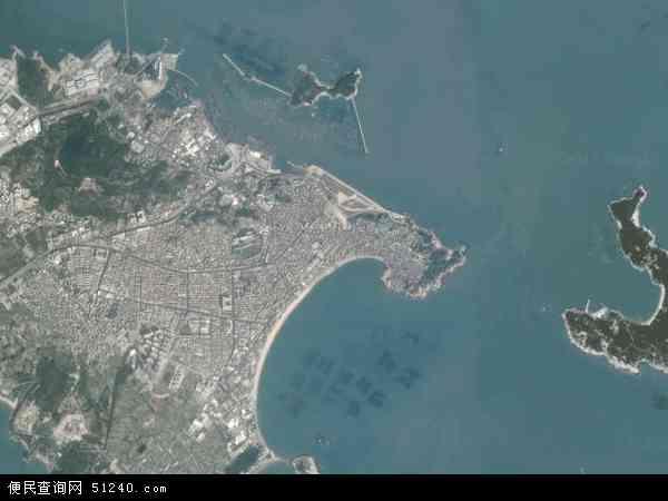 中国福建省漳州市东山县铜陵镇地图(卫星地图)