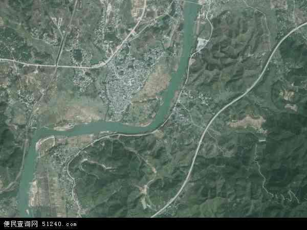 中国广东省河源市龙川县佗城镇地图(卫星地图)