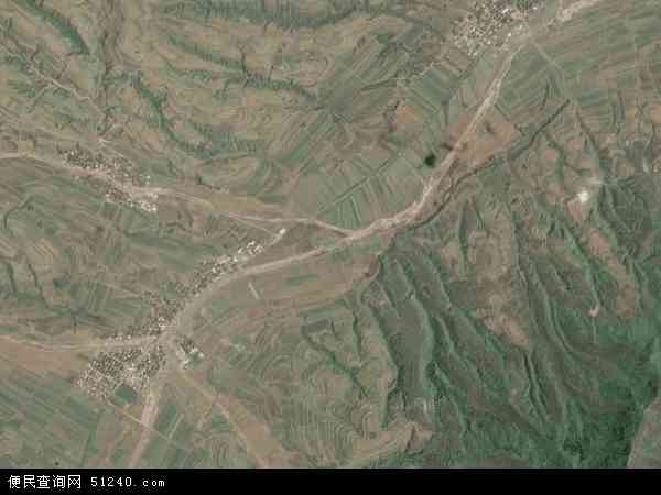 王狮乡高清卫星地图 王狮乡2017年卫星地图 中国山西省吕梁市岚县图片