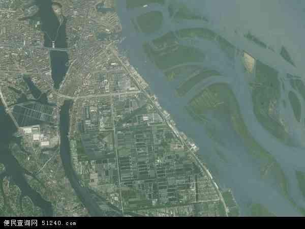 中国湖南省益阳市沅江市万子湖乡地图(卫星地图)