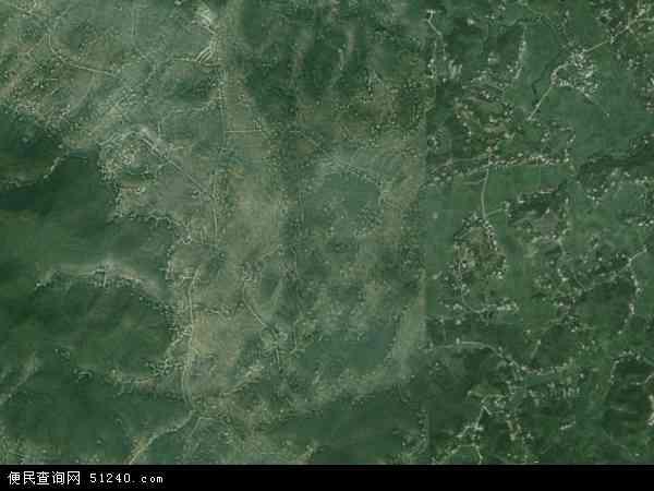 中国湖南省湘潭市湘潭县乌石镇地图(卫星地图)