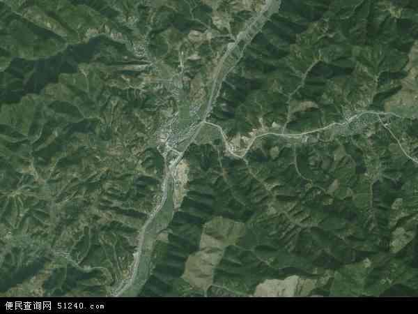 中国浙江省杭州市淳安县文昌镇地图(卫星地图)