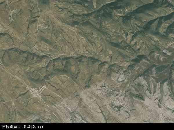 中国河南省洛阳市洛宁县小界乡地图(卫星地图