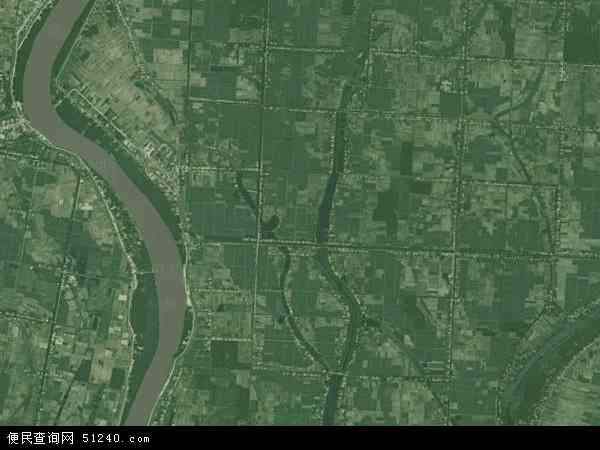 中国湖南省岳阳市华容县新建乡地图(卫星地图)