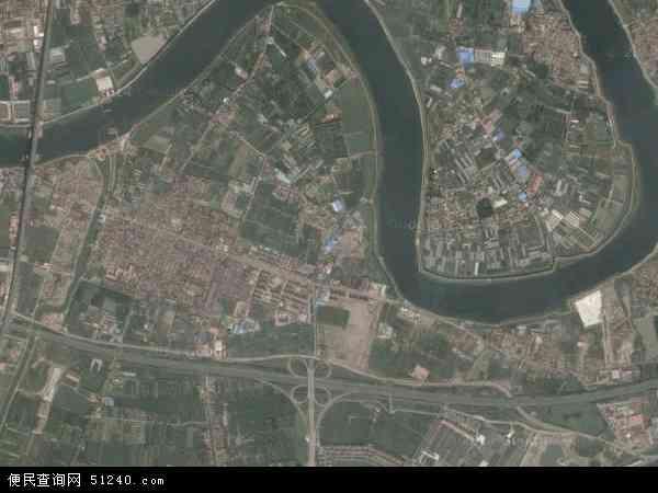 中国天津市滨海新区新城镇地图(卫星地图)