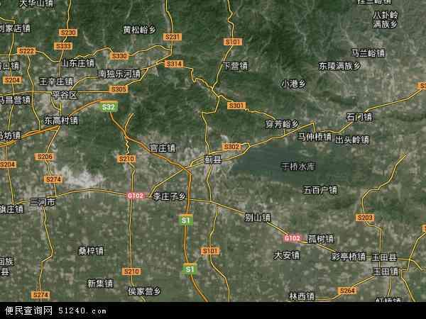 中国天津市蓟县许家台镇地图(卫星地图)图片