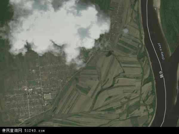 中国黑龙江省大兴安岭地区塔河县依西肯乡地图(卫星