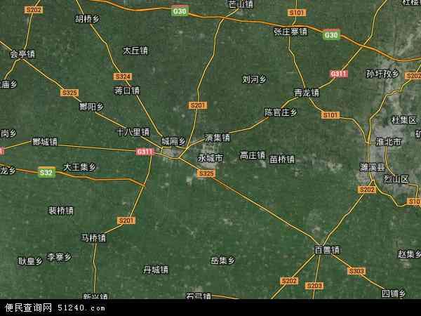 永城市高清卫星地图 永城市2014年卫星地图 中国河南省商丘市永城