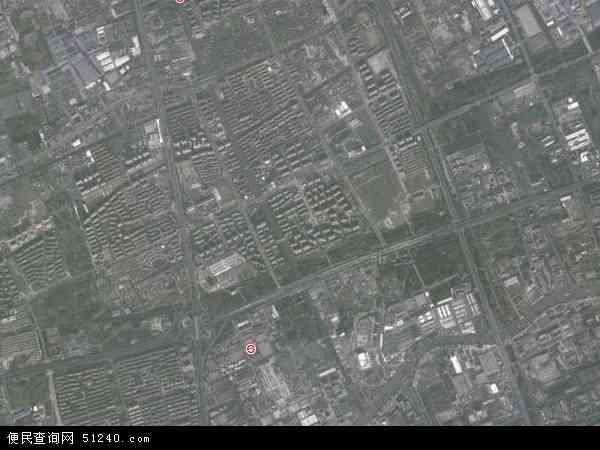 中国上海市宝山区杨行镇地图(卫星地图)