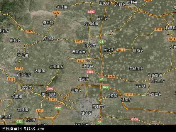 中国河北省邯郸市永年县地图(卫星地图)