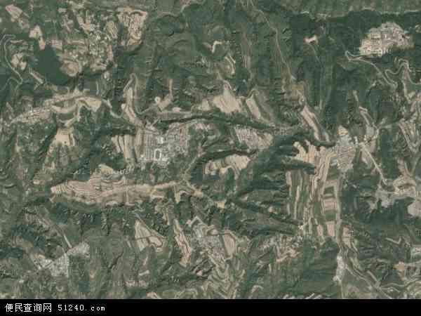 中国山西省临汾市乡宁县枣岭乡地图 卫星地图