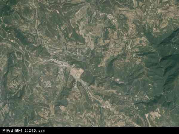 中国山西省临汾市尧都区枕头乡地图 卫星地图