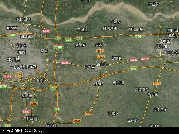中牟县地图- 中牟县卫星地图- 中牟县高清航拍地图