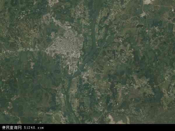 中国广西壮族自治区北海市合浦县白沙镇地图(卫星图片