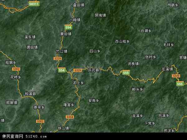 中国浙江省丽水市庆元县百山祖镇地图(卫星地图)图片