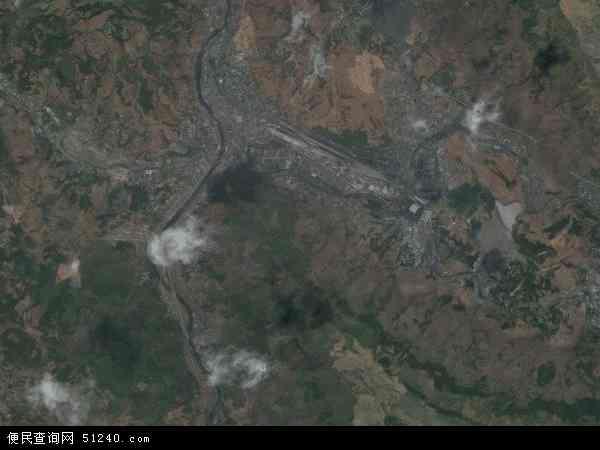 中国贵州省六盘水市盘县柏果镇地图(卫星地图)