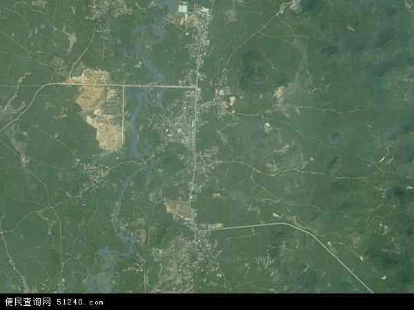 中国广西壮族自治区柳州市柳江县穿山镇地图(卫星