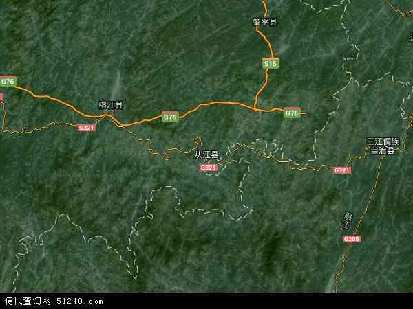 从江县地图 - 从江县卫星地图 - 从江县高清航拍
