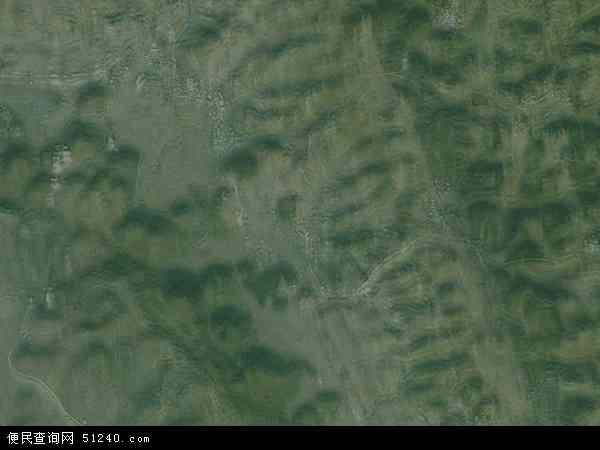 中国贵州省六盘水市六枝特区大用镇地图(卫星地图)