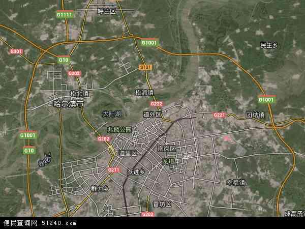 道外农垦卫星地图 - 道外农垦高清卫星地图