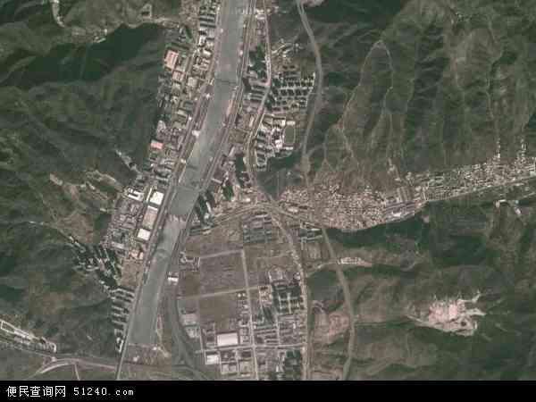 中国河北省承德市双桥区大石庙镇地图(卫星地图)