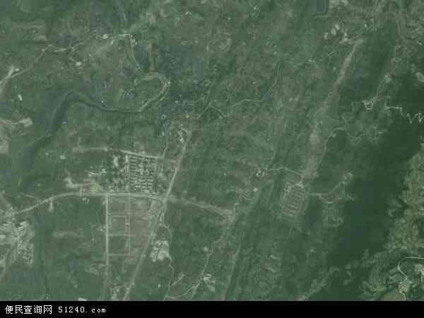 中国重庆市北碚区复兴镇地图(卫星地图)