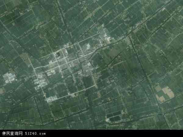 中国江苏省盐城市建湖县冈西镇地图(卫星地图)