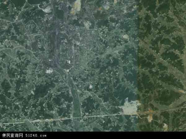 中国湖南省湘潭市雨湖区鹤岭镇地图(卫星地图)