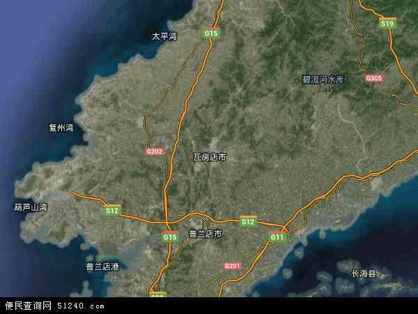 红沿河镇卫星地图 - 红沿河镇高清卫星地图