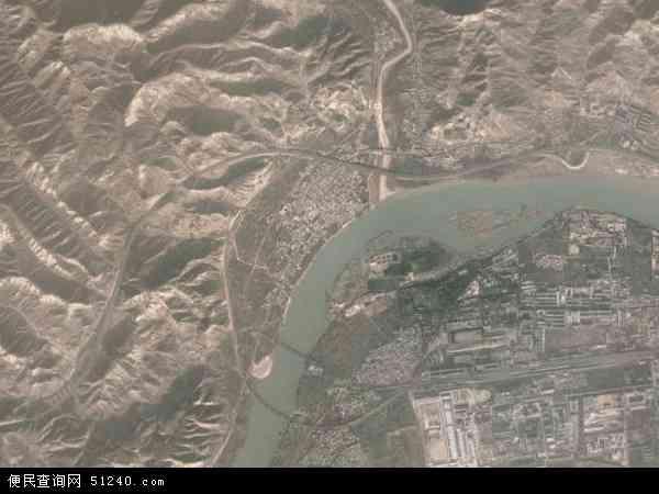 中国甘肃省兰州市西固区河口乡地图(卫星地图)